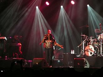 Angie Stone - Stone performing live at the North Sea Jazz Festival in Rotterdam, Netherlands, on July 11, 2008