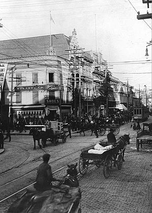 Saint Laurent Boulevard - Saint Lawrence and Saint Catherine streets, 1905.