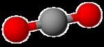 modello molecolare dell'anidride carbonica
