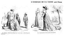 Caricatures de presse françaises sur les Savoyards en 1860