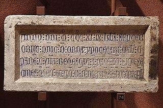 Épitaphe de Dominicus de Orda