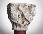 Anonyme toulousain - Chapiteau de colonne simple , Lions dans des lianes - Musée des Augustins - ME 223 (1).jpg