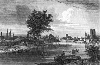 Wrocław - Oder in 1850