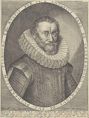 Anthonie II Schetz - Antonie II Schetz Count of Grobbendonk (1564-1641) at the age of 64.