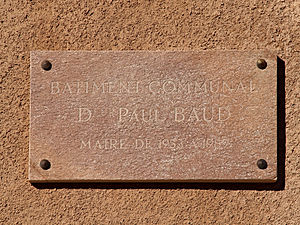 Antisanti - Plaque by Dr Baud, former Mayor
