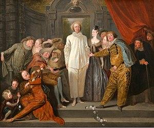 Pierrot - Antoine Watteau: Italian Actors, c. 1719. National Gallery of Art, Washington, D.C.