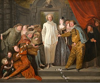 Pierrot - Antoine Watteau: Italian Actors, c. 1719. National Gallery of Art, Washington, D.C.