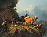 Anton Braith Auf dem Weg zur Alm.jpg