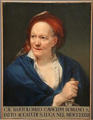 Bartolomeo Cavaceppi - Painting of Bartolomeo Cavaceppi by Anton von Maron, ca. 1794.