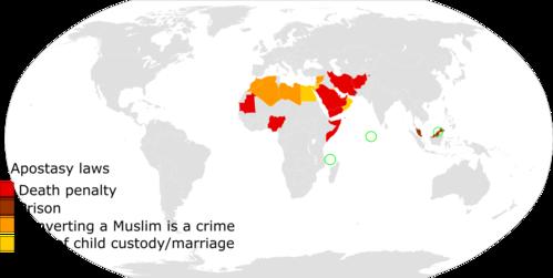 Countries that criminalize apostasy cdc06fe5e31