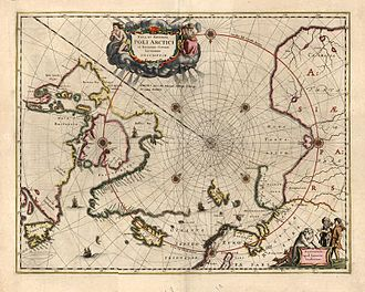 "Arctic exploration - Jan Jansson's map of the ""Poli Arctici"" from 1644."