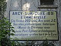 Arcy, grottes--old sign.jpg