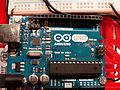 Arduino Uno, detalle, Games Week, Madrid, España, 2015.JPG