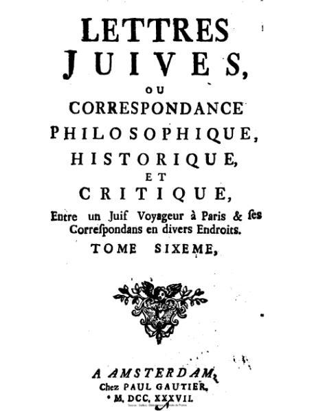 File:Argens - Lettres juives ou Correspondance philosophique, historique et critique, tome6.djvu