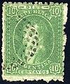 Argentina 1864 10c Sc12 used mute cancel.jpg