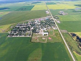 Elrose, Saskatchewan - Image: Ariel view of Elrose, Saskatchewan