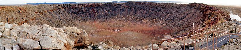 Панорама метеоритного кратера в Аризоне