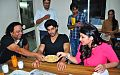 Arjun Kapoor and Parineeti Chopra welcomed by Suresh Sharma.jpg