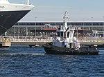 Arkturus towing Queen Elizabeth Port of Tallinn 3 August 2018.jpg
