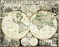 Armenian map of the world by brothers Hadriaan and Peter Damiaan Schoonebeek in Amsterdam 1695.jpg