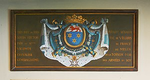 Claude Louis Hector de Villars - Coat of Arms of duc de Villars in Vaux-le-Vicomte castle