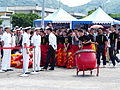 Army Academy R.O.C. Lion Dance Team Standby at Border of Ground 20130504a.jpg