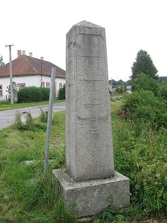 Arneštovice - Image: Arneštovice rozcestník