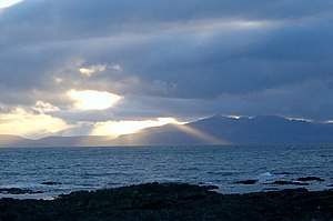 Arran Sunset. A fabulous sunset over the Isle ...