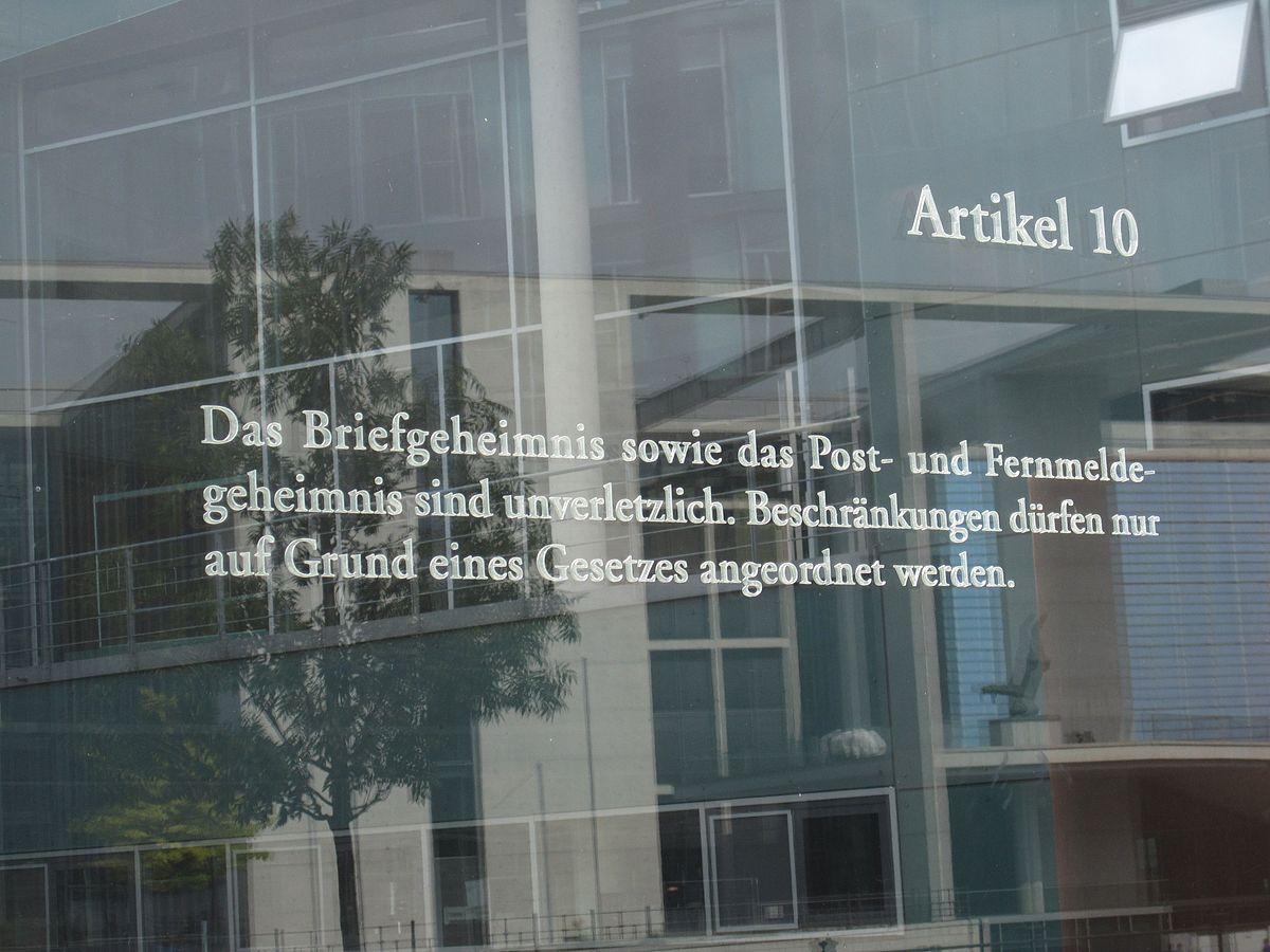 Artikel 10 des Grundgesetzes für die Bundesrepublik ...