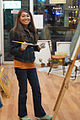 Artist Carla Jones at her Art Studio, painting Moern Art.jpg