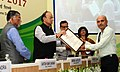 Arun Jaitley gave away the Commendation Certificates to officers of the Income Tax Deptt for their meritorious services, on the occasion of the Income Tax Day Celebration 2017, in New Delhi.jpg