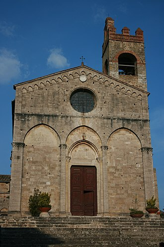 Asciano - The church of St. Agatha in Asciano.