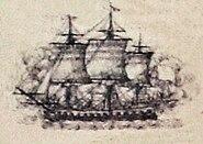 Astree au combat de Louisbourg 1781
