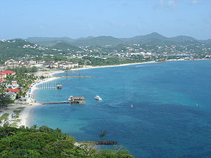 Gros Islet - Gros Islet and Rodney Bay as seen from Pigeon Island