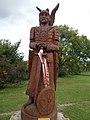 Attila statue in Gyenesdiás, 2016 Hungary.jpg