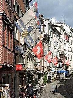 street in the city of Zürich, Switzerland