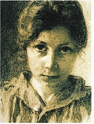 Jeanne Malivel - Self-portrait by Malivel