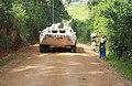 Aveba, District de l'Ituri, Province Orientale - Patrouille motorisée quotidienne pour protéger les civils contre les FRPI. (19852473195).jpg