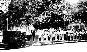 Avellaneda Park Historic Train - The train carrying a group of children in the 1930s.