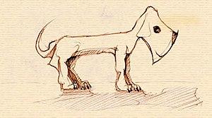 Axehandle hound - An illustration of an axehandle hound.