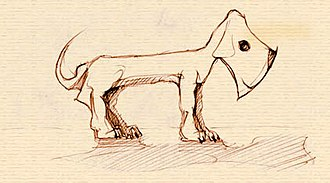 Axehandle hound - An illustration of an axehandle hound.