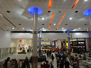 Ayalon Mall - Inside view of the mall's second floor