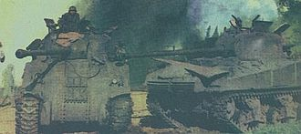 1963 Argentine Navy revolt - A disabled Sherman tank in Florencio Varela (22 September 1962)