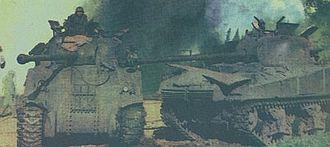 1963 Argentine Navy revolt - A disabled Sherman tank in Florencio Varela (22 September 1962)