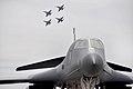 B-1 LancerB display while four Royal Australian Air Force FA-18s practice.jpg