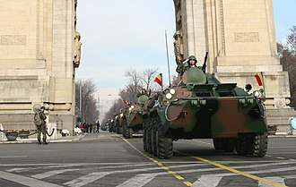Arcul de Triumf - Image: B33Zimbru National Day Rehearsals Bucharest