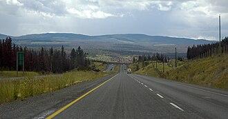 British Columbia Highway 5 - Image: BC Highway 5 Thompson Plateau