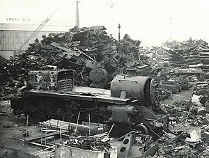 John Cashmore Ltd - British Rail Riddles Standard Class 5MT 73116, being scrapped in 1967