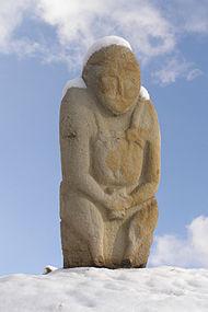 Cuman stone statue