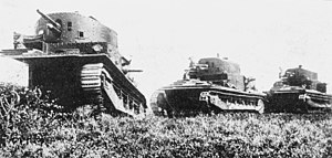 Vickers Medium Mark I - Vickers tanks on the move in England in the 1930s